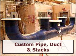 Custom Fiberglass (FRP) Pipe, Duct & Stacks