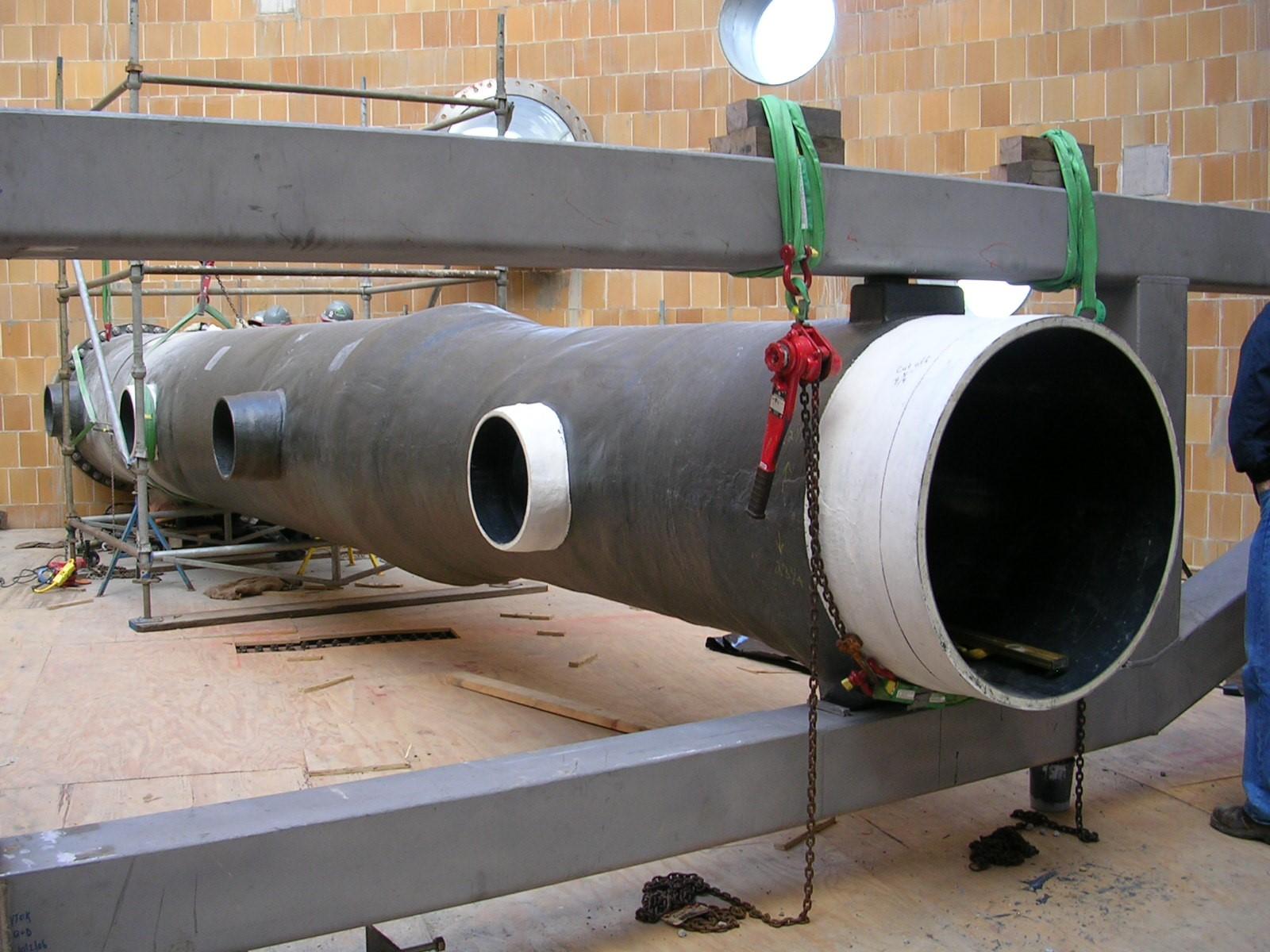 Vinyl Ester Pipe : Fgd spray headers fibrex fiberglass pipe manufacturer