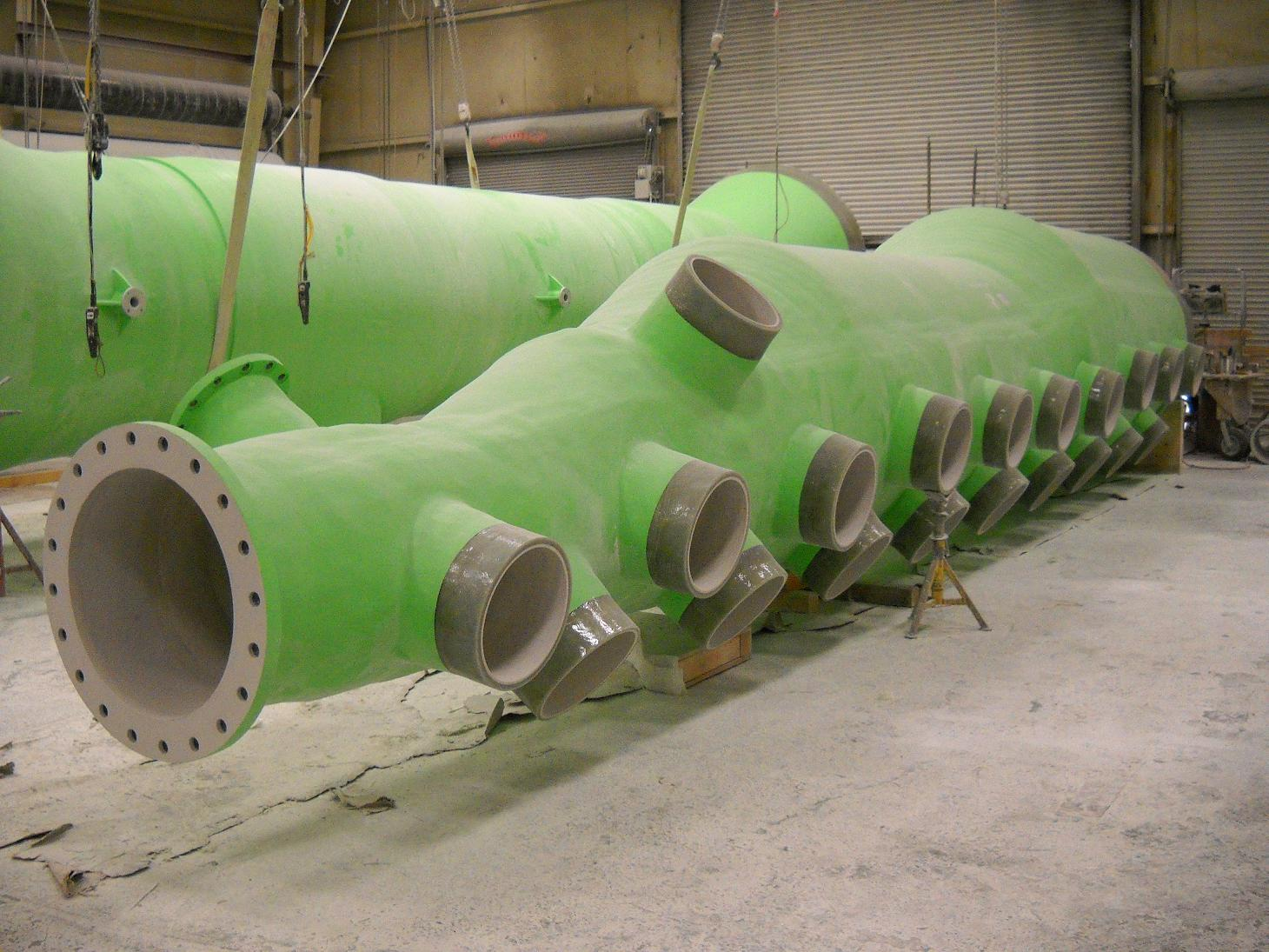 Fiberglass pipe frp headers fibrex