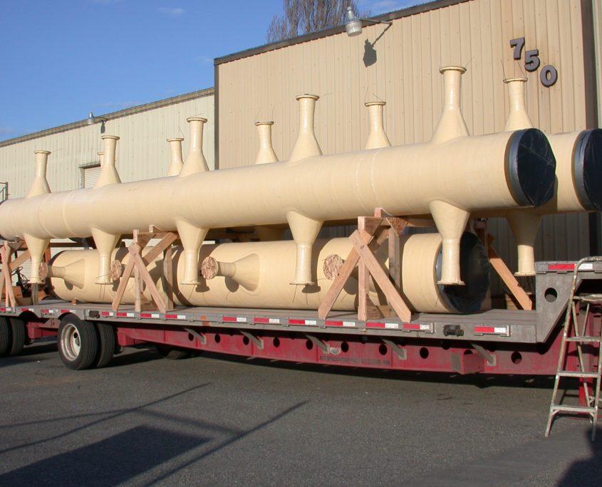 Fiberglass Pipe FRP Shipping - FIBREX - Fiberglass Pipe